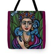 Frida's Monkeys Tote Bag by Victoria De Almeida