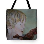 Friendly Chicken Tote Bag