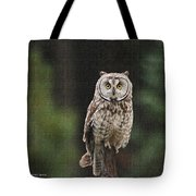 Friendly Owl In The Forest Tote Bag