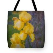 Friendly Yellow Irises Tote Bag