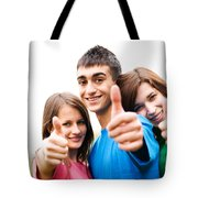 Friends Showing Thumb Up Sign Tote Bag