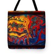 Friendship And Love Abstract Healing Art Tote Bag