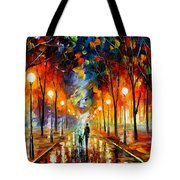 Friendship - Palette Knife Oil Painting On Canvas By Leonid Afremov Tote Bag