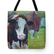 Friesian Holstein Cows Tote Bag