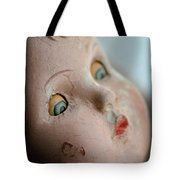 Frightened Vintage Doll Face Tote Bag