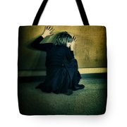Frightened Woman Tote Bag by Jill Battaglia
