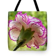 Frilly Carnation Tote Bag