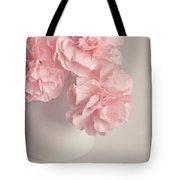 Frilly Pink Carnations Tote Bag