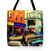 Friperie St.laurent Clothing Variety Dress Shop Downtown Corner Store City Scene Montreal Art Tote Bag