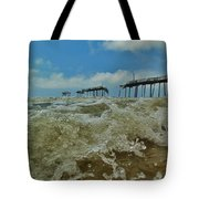 Frisco Pier Water Level View 1 5/24  Tote Bag