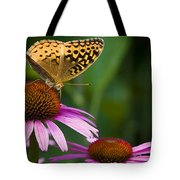 Fritellary On Cone Flower Tote Bag
