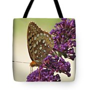 Fritillary Butterfly On Buddleia Tote Bag