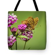 Fritillary Butterfly Square Format Tote Bag