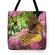 Fritillary On Meteor Tote Bag