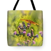 Fritillary On Thistle Tote Bag