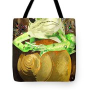 Frog And Friend Tote Bag