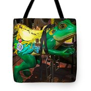 Frog Carrousel Ride Tote Bag