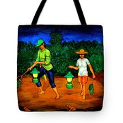 Frog Hunters Tote Bag