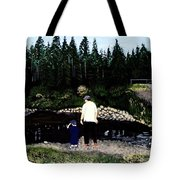 Frog Hunting With Poppy Tote Bag