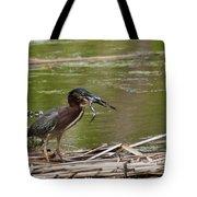 Frog Legs And Green Heron Tote Bag