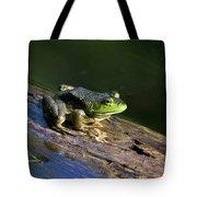 Frog On A Log Tote Bag