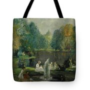 Frog Pond In Boston Public Gardens Tote Bag