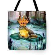 Frog Prince Tote Bag by Heather Calderon