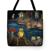 Frogland Tote Bag by Leah Saulnier The Painting Maniac