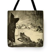 Frogs And Candle Tote Bag
