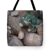 Frogs Imitation And Real  Tote Bag
