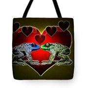 Frogs In Love Tote Bag