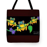 Frogs On Vines Tote Bag