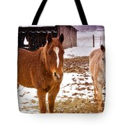 Frolicking In The Snow  Tote Bag