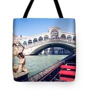 From A Gondola Near Rialto Bridge Tote Bag