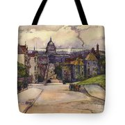 From A Hilltop In San Francisco By  Rowena Meeks Abdy Early California Artist C 1906 Tote Bag