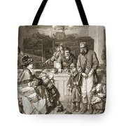 From Hand To Mouth, Engraved By J.m Tote Bag