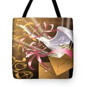 From Mom And Dad With Love Tote Bag