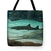 From The Deep - Sawtooth Ray Sharks Tote Bag
