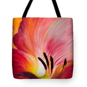 From The Heart Of A Flower Red I Tote Bag