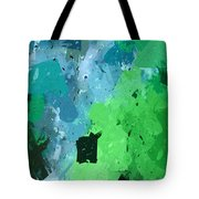 From Winter Blues To Spring Greens Tote Bag by Heidi Smith