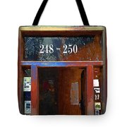Front Door At The Cafe Nine Tote Bag