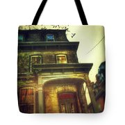 Front Of Old House Tote Bag by Jill Battaglia