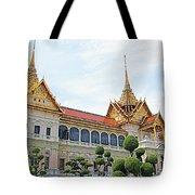 Front Of Reception Hall At Grand Palace Of Thailand In Bangkok Tote Bag