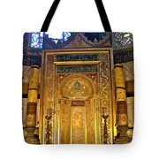 Front Of Saint Sophia's Museum In Istanbul-turkey Tote Bag