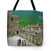 Front Of Theater In Ephesus-turkey Tote Bag