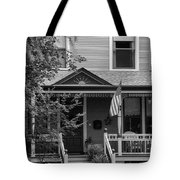 Front Porch Usa Black And White Tote Bag