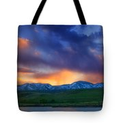 Front Range Light Show Tote Bag by Darren  White