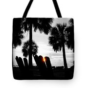 Front Row For Sunset Tote Bag