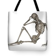 Front View Of A Human Skeleton Posing Tote Bag