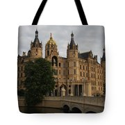Front View Of Palace Schwerin Tote Bag